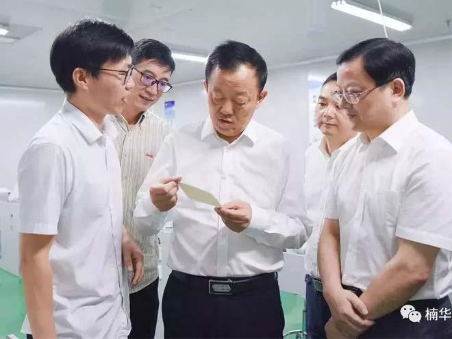 9月2日副市长王良春调研传感器产业园建设